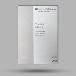 media shop, Knjiga TELEVIZIJA U EUROPI, institut za otvoreno društvo, knjiga