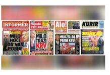 Aleksandar Vučić,Informer, Srpski telegraf, Alo, Kurir, Joanikije Mićović,Dragan J. Vučićević,